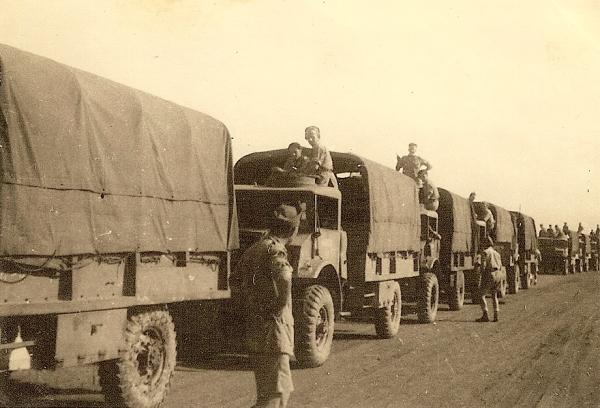 Gereed voor vertrek van kamp Chaah naar Sagil, 13 februari 1946